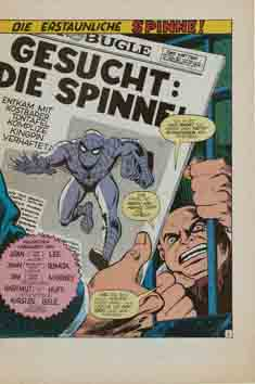 Williams Recht Marvel die Spinne Splashseite