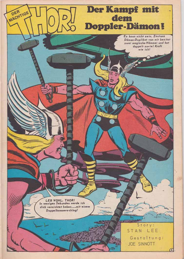 HIT-Comics Thor Splash Page