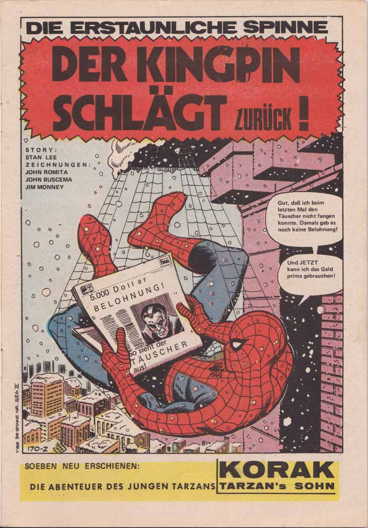 HIT-Comics die Spinne Splash Page