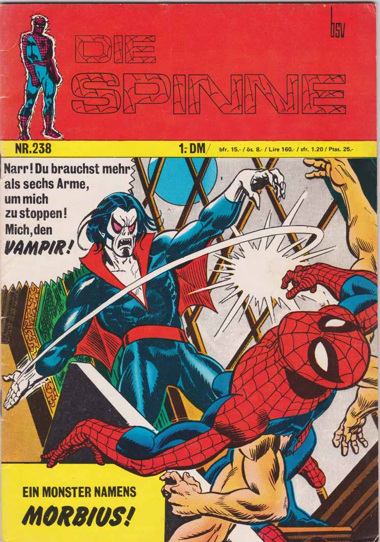 die Spinne Marvel hit Cover