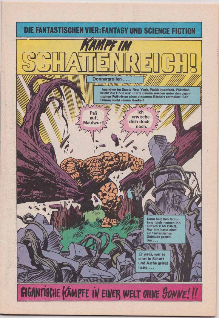 HIT-Comics fantastischen Vier Splash Page